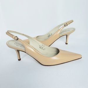 Coach Alena Slingback Tan Shoes, Size 8.5 B